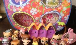assorted littlest pet shop characters and accessories