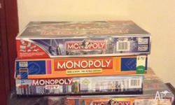 Assorted monopoly board games Monopoly The Here and Now