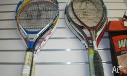 Assorted Tennis racquets Price is per each from $7 Pick