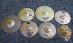 Assorted splash cymbal $20.00 each NOT the whole