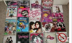 Assorted Teen Girls dvd's and CD's  Popular Titles