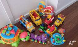 Bundle of toys for sale, including fisher price and