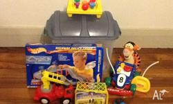 Assorted toys. 3mths - 3 years - Floor puzzles, cars