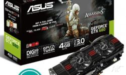 2x ASUS Nvidia GTX680 OC 4GB up for sale. These cards