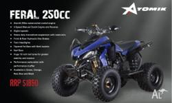 ATOMIK,FERAL,250cc,2011, Chain, Black / Blue / Green /