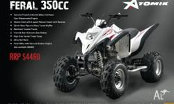 ATOMIK,FERAL,350cc,2011, Chain, Black / White, ATV,