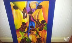 Attractive and striking African Dancers print. Ready