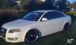 2007 AUDI A4 B7 TDI MULTITRONIC 4 door SEDAN white 7 sp