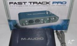 M-Audio FastTrackPro audio interface / soundcard 4 x 4