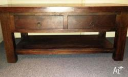 4 drawer coffee table (Dimensions: 1m long, 42cm high,