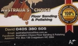 AuAustralia's Choice Flooring Sanding & Polishing