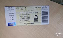 Ticket for Cricket Match, Australia Vs South Africa on