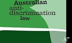 Australian anti-discrimination law textbook for sale.