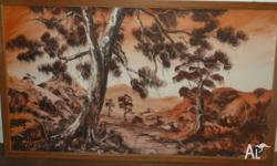 Australian scenery. Size of picture is approx 66cm