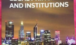 Australian Legal Principles and Instituions by Kate