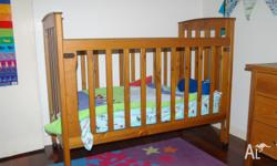 Australian Pioneer wooden cot for sale. It is in