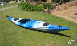 Excellent condition 4.4 meter Sea Kayak, has had little