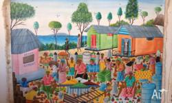 Authentic Painting from Haiti. Painted in acrylic by a