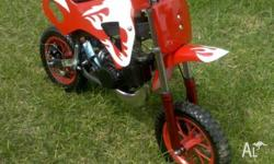 Brand New 49cc Automatic Kids Dirt Bike, Genuine, Fully