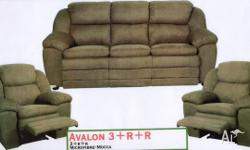 "Lounge suite model ""AVALON"". Three seater and two"