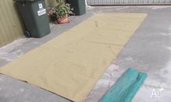Heavy Duty Canvas Awning. Size is 5'11 x 13'7. With