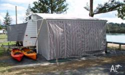Caravan or Camper Van Annex Roll out awning walls in