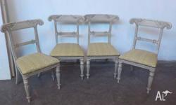 This is a set of 4 gorgeous vintage French Provincial