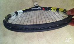 The racquet is about 1 year old and has recently been
