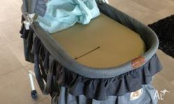 Good used condition Baby bassinet with 3 foam base