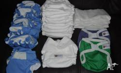 13 Baby Beehinds Nappies and 2 Covers for Sale. In