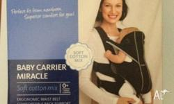 Classic baby carrier with an ergonomic design that is