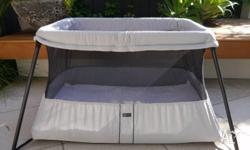 Baby Bjorn Travel cot in excellent condition, light