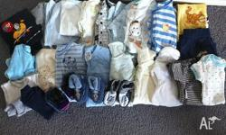 Over 25 items of clothing for a baby boy (or girl)