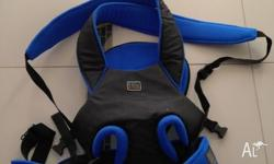 Elite baby carrier. Can carry baby forwards or