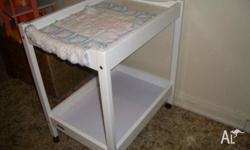 White baby change table, good condition