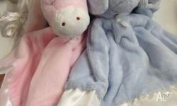 Baby comfort blankie Available in pink, blue and