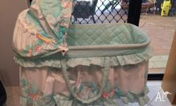 Baby cot on stabs with castor wheels... Used, no
