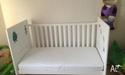 Very good condition cot and mattress. Hardly used as