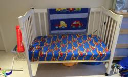 Wooden Baby Cot & Matress For Sale As per photo