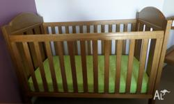 Good Condition, Few teeth marks on Cot, Change Table as