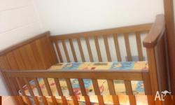 Cot and Mattress in very good condition. Moving down