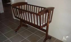 Mothercraft baby cradle for sale. Good condition. Not