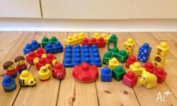 Baby Duplo Cars, people, blocks, in good condtion Check