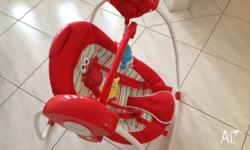 Baby Elmo bouncer for sale Still in great condition,