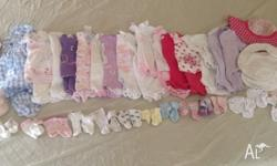 Beautiful bulk lot of baby girls summer clothes in size