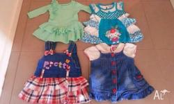 I m selling these 4 baby girl dresses size 0 to 1.
