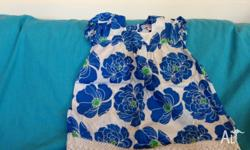 Pumpkin Patch 3-6 month (up to 67cm) blue flower print