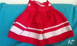 PUMPKIN PATCH 3-6 month girls red and white sun dress.