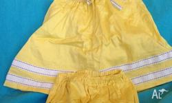 PUMPKIN PATCH yellow and blue sun dress with matching