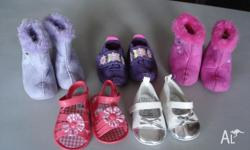 Five pair of baby girl shoes for $30 Items consist of